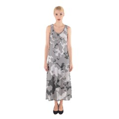 WINTER CAMOUFLAGE Sleeveless Maxi Dress