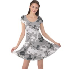 Winter Camouflage Cap Sleeve Dresses
