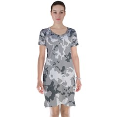 Winter Camouflage Short Sleeve Nightdress