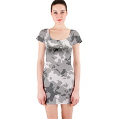 WINTER CAMOUFLAGE Short Sleeve Bodycon Dress