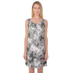 WINTER CAMOUFLAGE Sleeveless Satin Nightdress