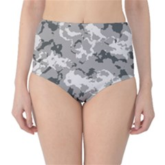 WINTER CAMOUFLAGE High-Waist Bikini Bottoms