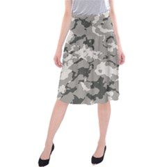 Winter Camouflage Midi Beach Skirt