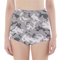 WINTER CAMOUFLAGE High-Waisted Bikini Bottoms