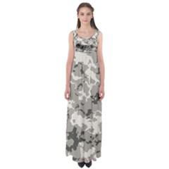 Winter Camouflage Empire Waist Maxi Dress