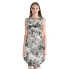 WINTER CAMOUFLAGE Sleeveless Chiffon Dress