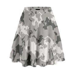 WINTER CAMOUFLAGE High Waist Skirt