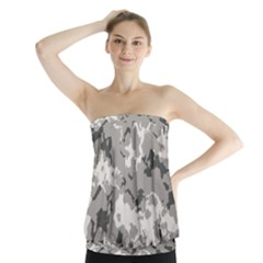 Winter Camouflage Strapless Top