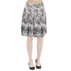 Winter Camouflage Pleated Skirt