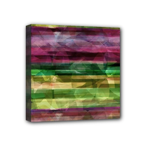 Colorful marble Mini Canvas 4  x 4