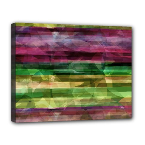 Colorful marble Canvas 14  x 11