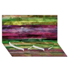 Colorful marble Twin Heart Bottom 3D Greeting Card (8x4)