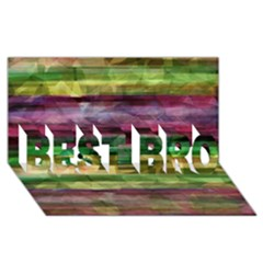 Colorful marble BEST BRO 3D Greeting Card (8x4)