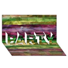 Colorful marble PARTY 3D Greeting Card (8x4)
