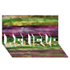 Colorful marble BELIEVE 3D Greeting Card (8x4)