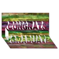 Colorful marble Congrats Graduate 3D Greeting Card (8x4)