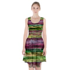Colorful Marble Racerback Midi Dress