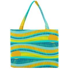 Yellow and blue decorative design Mini Tote Bag