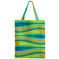 Yellow and blue decorative design Classic Tote Bag