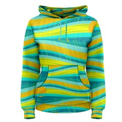 Yellow and blue decorative design Women s Pullover Hoodie