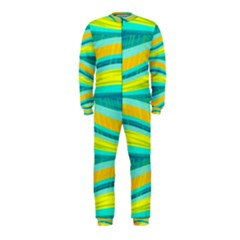 Yellow and blue decorative design OnePiece Jumpsuit (Kids)