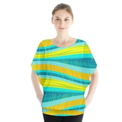 Yellow and blue decorative design Blouse
