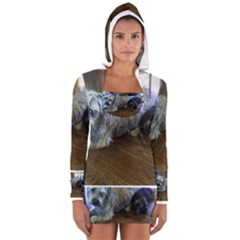 Border Terrier Brothers Women s Long Sleeve Hooded T-shirt