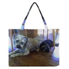 Border Terrier Brothers Medium Zipper Tote Bag