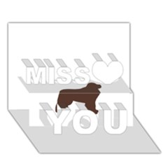 Newfie Silo Brown Miss You 3D Greeting Card (7x5)