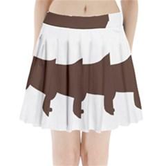 Newfie Silo Brown Pleated Mini Skirt