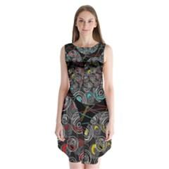 Crush  Sleeveless Chiffon Dress