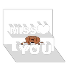 Peeping Rhodesian Ridgeback Miss You 3d Greeting Card (7x5)