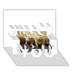 2 Samoyed Puppy Miss You 3D Greeting Card (7x5)
