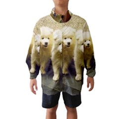 2 Samoyed Puppy Wind Breaker (Kids)