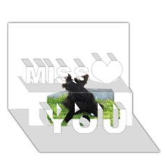 Scottish Terrier Sitting Miss You 3D Greeting Card (7x5)