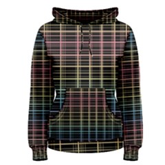 Neon plaid design Women s Pullover Hoodie
