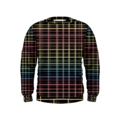 Neon plaid design Kids  Sweatshirt