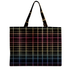 Neon plaid design Medium Tote Bag