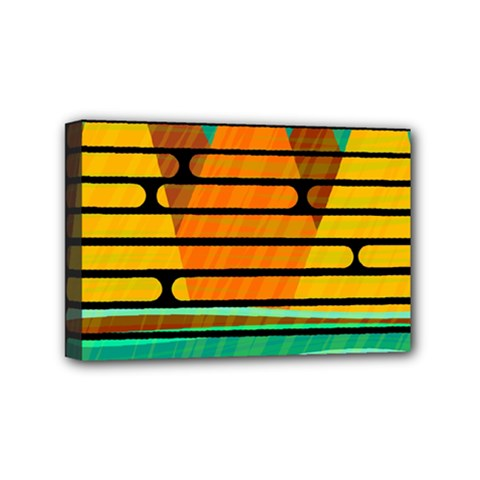 Decorative autumn landscape Mini Canvas 6  x 4