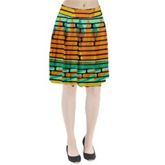 Decorative Autumn Landscape Pleated Skirt