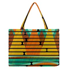 Decorative autumn landscape Medium Zipper Tote Bag