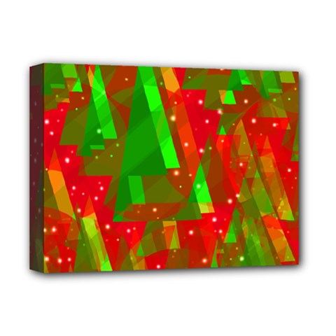 Xmas trees decorative design Deluxe Canvas 16  x 12