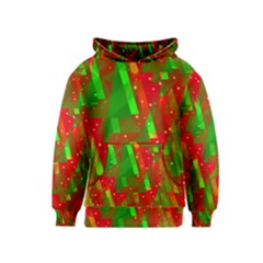 Xmas trees decorative design Kids  Pullover Hoodie