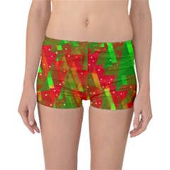 Xmas trees decorative design Reversible Boyleg Bikini Bottoms