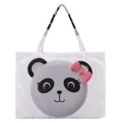 Pretty Cute Panda Medium Zipper Tote Bag
