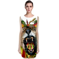 Reggae Lion Classic Sleeveless Midi Dress