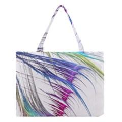 Satin Fractal Medium Tote Bag