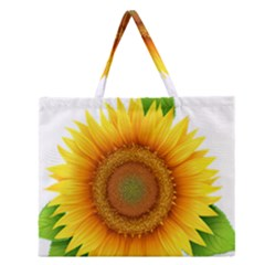 Sunflower Clipart Zipper Large Tote Bag