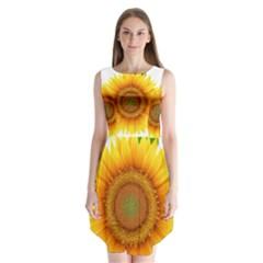 Sunflower Clipart Sleeveless Chiffon Dress