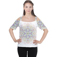 The Flower Of Life Women s Cutout Shoulder Tee